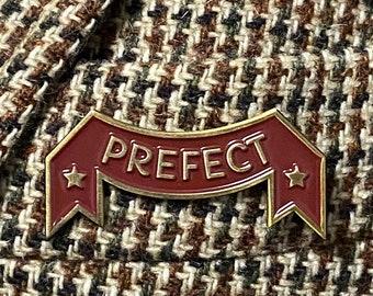 Prefect vintage enamel pin garnet and gold