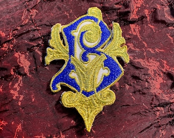 Beauxbatons embroidered patch without background  uniform cosplay wizarding