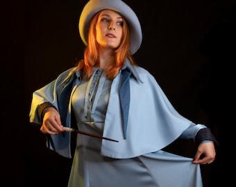 Beauxbatons costume cosplay | inspired Fleur bespoke dress and hat
