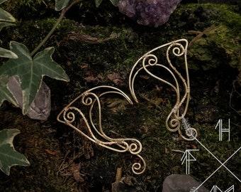 Elf ears, Fantasy elf earcuffs,  Elven ear earrings, Elvish ears ear tip, Copper elf ears, Dainty earcuff earring, Goth elf ears