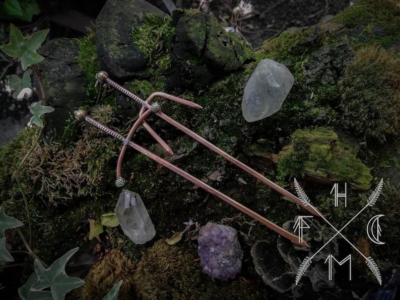 Ensemble de bâton de cheveux épée en cuivre longue épée image 0