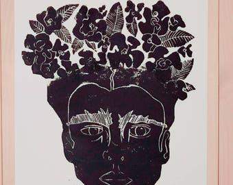 FRIDA - Original Lino Print