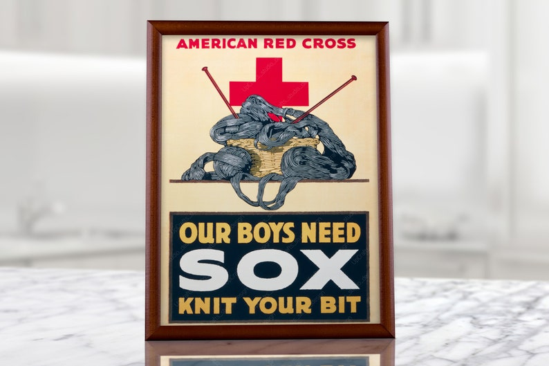 American Red Cross Military Vintage Poster, humanitarian organization,  emergency assistance, usa war poster, patriotic patriot, militaria