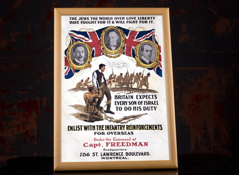 Britain Expects Every Son of Israel War Posters