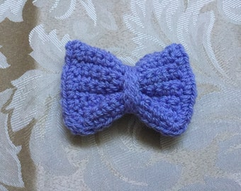 Purple crocheted hair bow