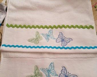 Butterflies hand towels 2 per set
