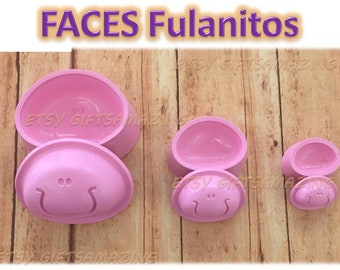 3D PLASTIC MOLDS CREATE FACES PACK 1 WITH EVA FOAM FOAMY FOMI 19 PAIRS MOLDS