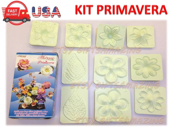 3D PLASTIC MOLDS TO CREATE ROSE FLOWER WITH EVA FOAM FOAMY PACK OF 3 SIZES
