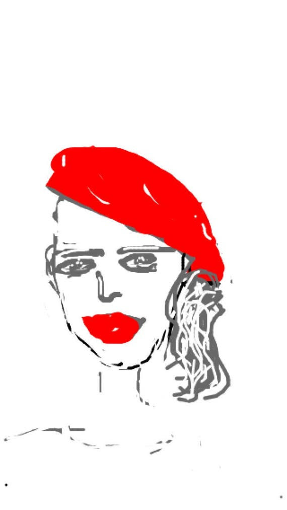 Strawberry Beret - Minimalist Fine Art Print.