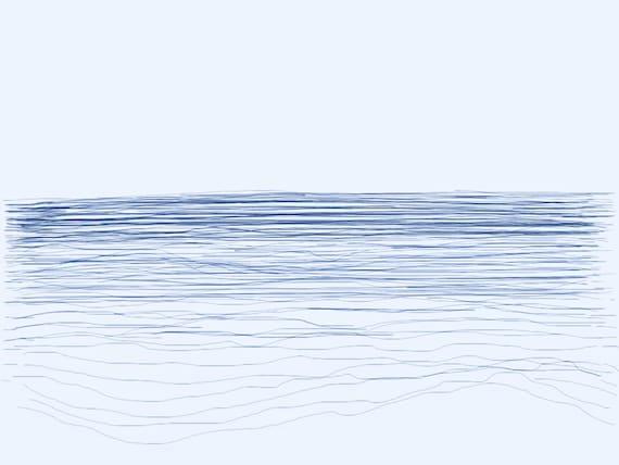 Tide 4 -  Thames Estuary - Chalkwell Beach  - February 2018 - Minimalist Fine Art Print.
