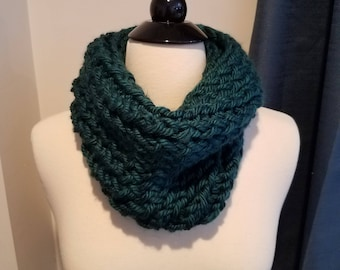 Teal Crochet Cowl