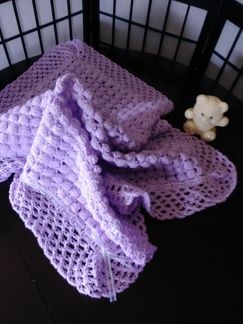 Crochet baby blanket Hand knit baby blanket