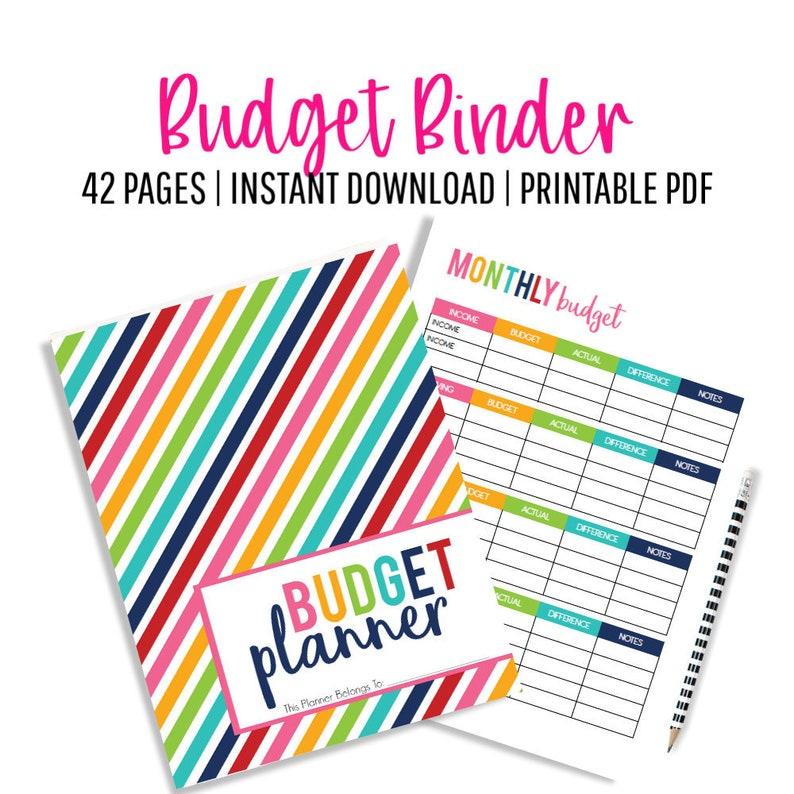 Budget Binder Budget Planner Printable Budget Monthly image 0
