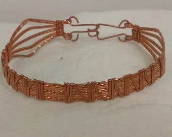 Copper wire wrapped bracelet, girls,teen, ladies,nice design