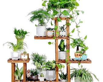 Outdoor Plant Stand Etsy