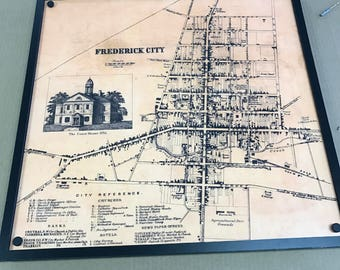 Old Frederick MD city map