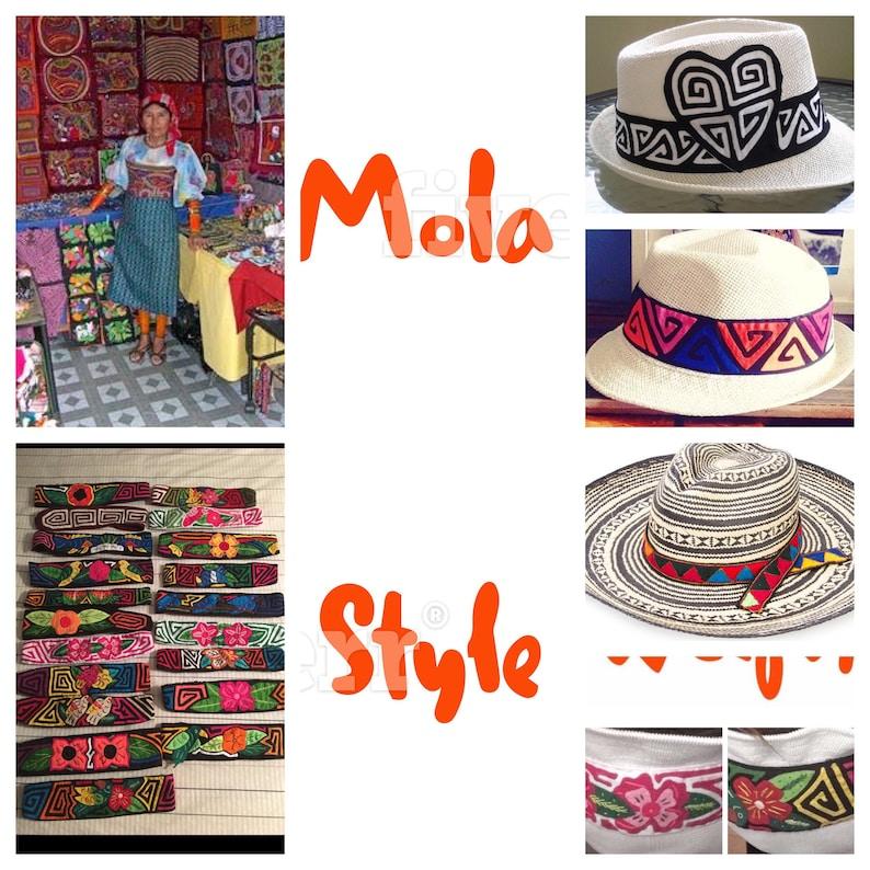Panamanian Mola Headband Hand Sewn Guna Women Adult Mola Panamanian Guna Accessory Genuine Handmade Mola Headbands Handmade Headband