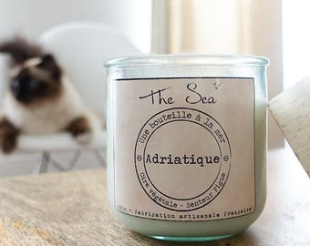 Natural - Adriatic - fig scented candle wax Soy - Candle The Sea