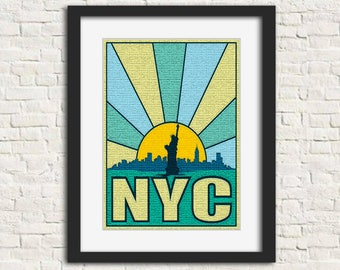 New York City: The Places You Go - Wall Art, Instant Download, Printable Art, Modern Art, Wall Decor