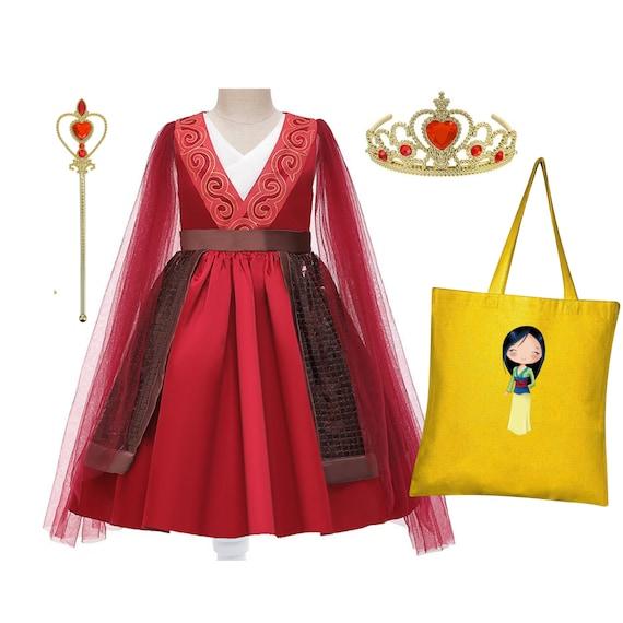 Mulan gift bag Mulan costume for girls and toddlers Mulan Deluxe dress Personalized gift Mulan dress