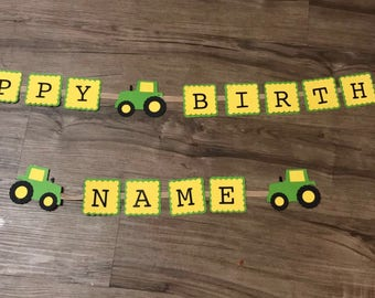 Tractor Birthday Banner