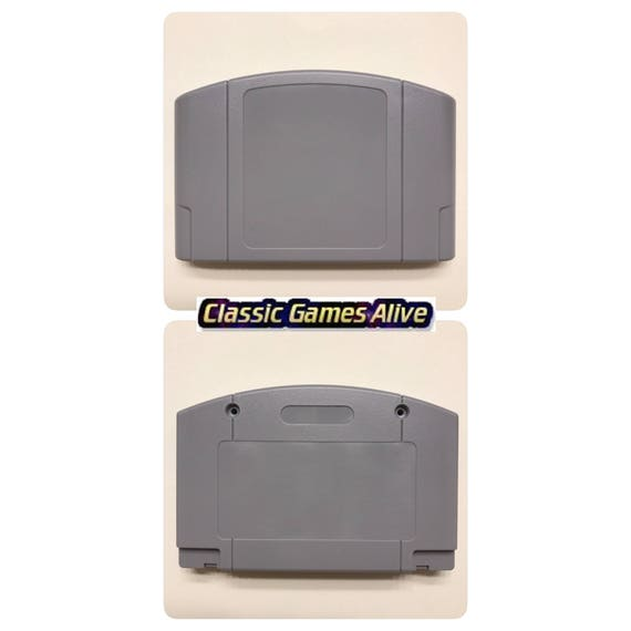 N64 Replacement Case Cartridge Shell Zelda Gold and Gray Color