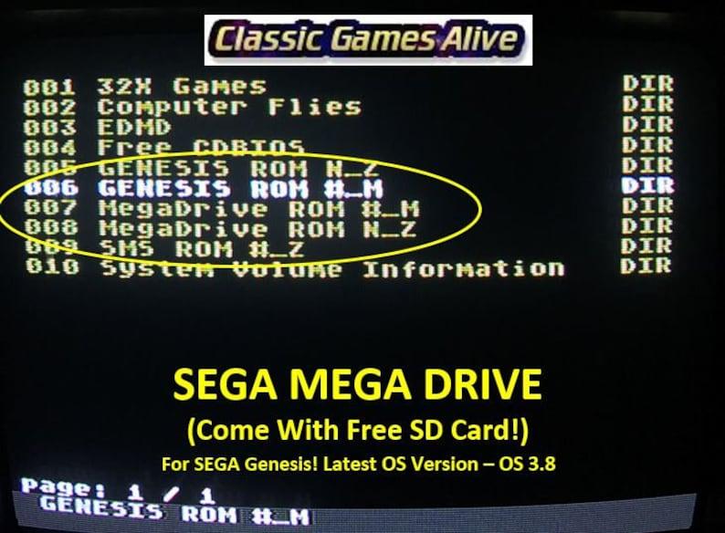EverDrive SEGA Genesis Mega Drive MD v2 Cartridge +8gb Preloaded SDcard  (for us, eu& jp 16bit MD)