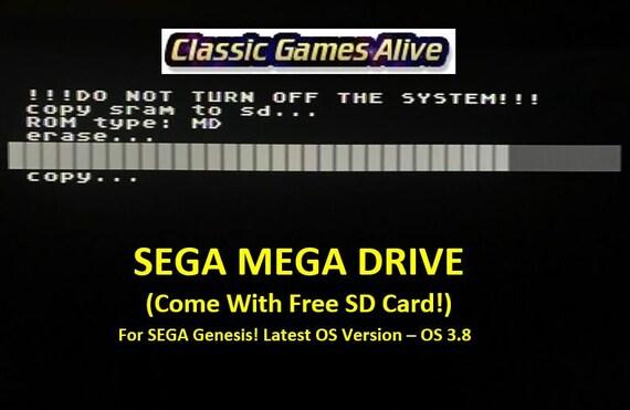 Everdrive Sega Genesis Mega Drive Md V2 Cartridge 8gb Etsy