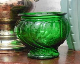 Emerald Green Swirl Candy Dish | Napco Cleveland Ohio