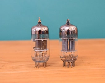 Medium Vacuum Tubes | Two Electron Tubes | Pair Vintage Diodes | DIY Do It Yourself | Retro Radio Television | Steampunk Decor | Gift Craft