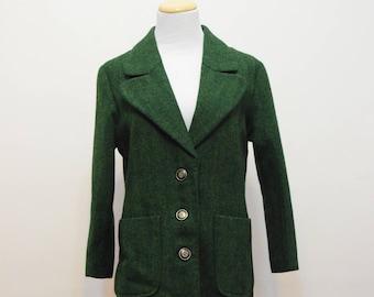 Green Tweed Blazer | Jacket | Handmade