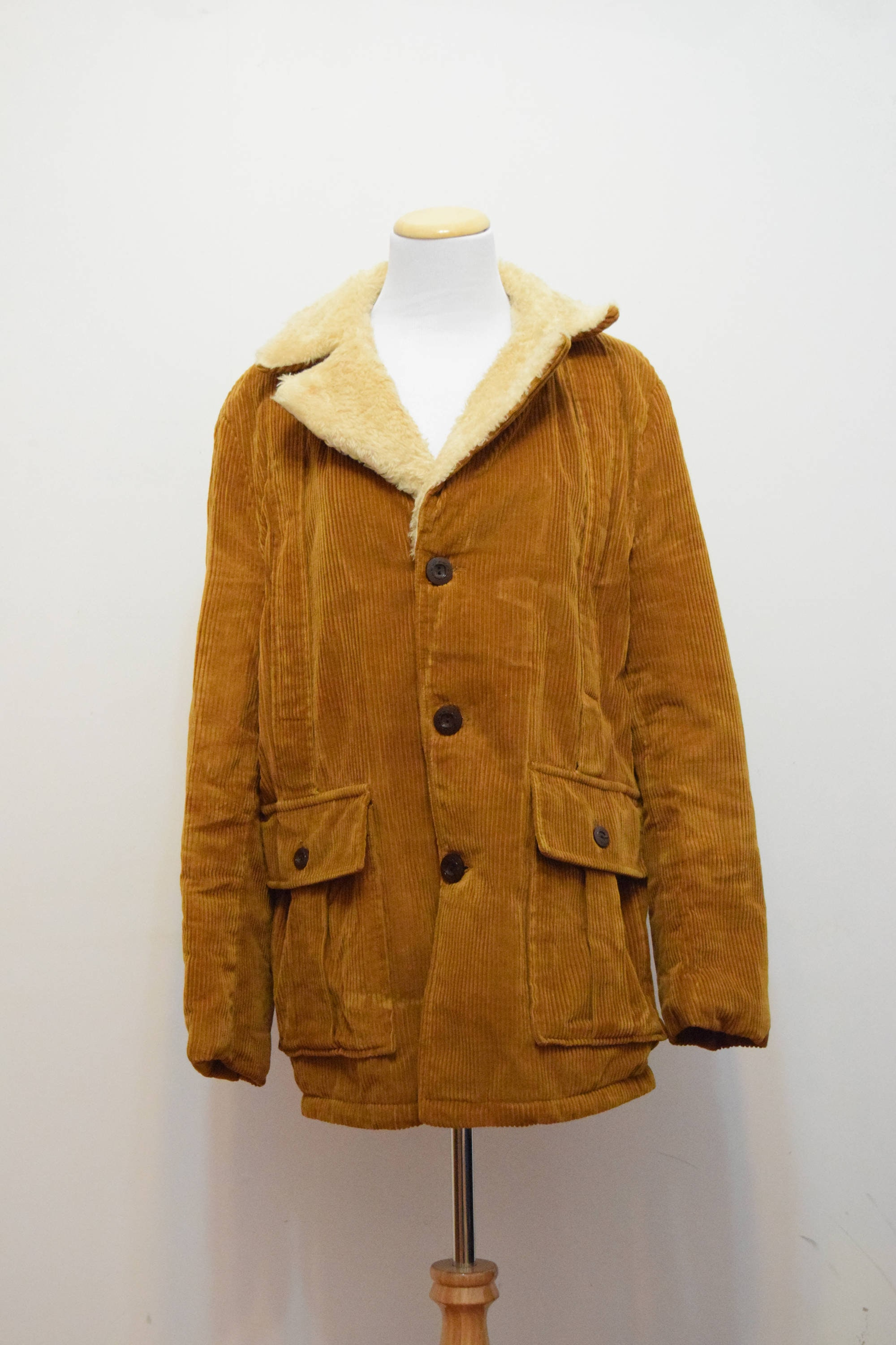 Tan Corduroy Jacket Northland Men S Coat Country Rustic L Xl