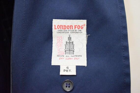 Navy Blue London Fog Trench Coat | 6 Petite - image 10