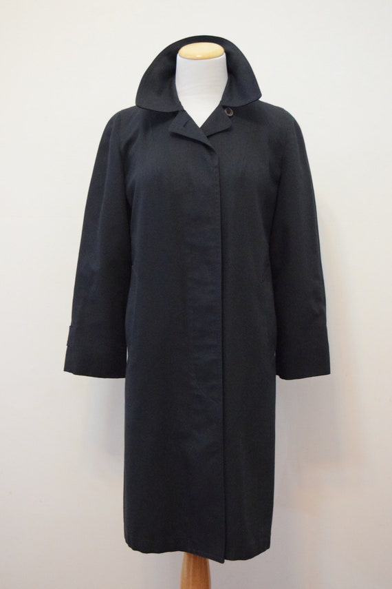 Women's Navy Blue London Fog Trench Coat | Wool Li