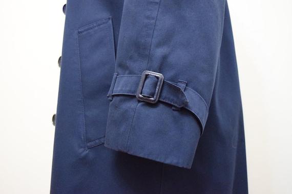 Navy Blue London Fog Trench Coat | 6 Petite - image 8