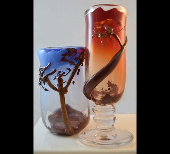 Treescape Decorative Vases Accent Pieces Hand Blown Vases Etsy