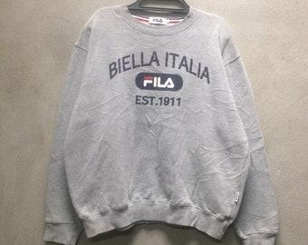 ce32a0265a54 Fila Big logo Crewneck Sweatshirt Grey color Good condition