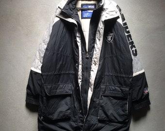 pretty nice 41df4 09f5e Raiders nfl jacket   Etsy