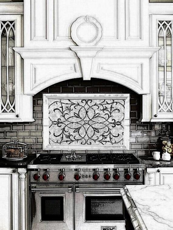 kitchen mosaic fantasy mural glass tile mosaic wall decor etsy