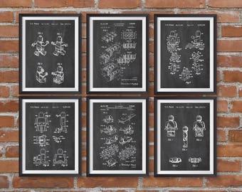 Blueprint wall art etsy lego patent posters lego toys lego poster lego kids room kids room wall art nursery decor digital download blueprint lego patent malvernweather Images