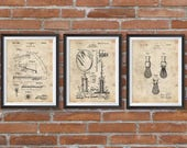 SET of 3 Shaving Inventions, Husband Gift, Shaving Patent, shaving mirror patent, Men 39 s Bathroom Wall Art, Razor Patent,Shaving Brush Patent