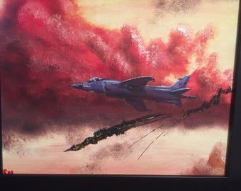 Harrier Downs a Mirage III, 1982