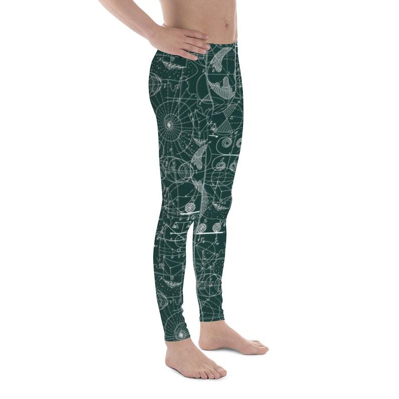 Men/'s Leggings Geomtery Edition