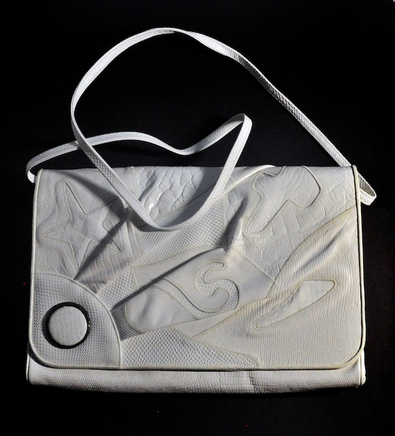 White Snake  Leather purse by Sharif