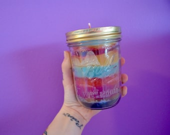 Vintage Wide Mouth Ball Jar Candle