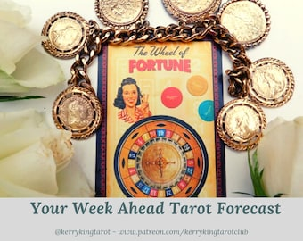 Your Week Ahead Tarot, written forecast via pdf/email with Metro's Kerry King