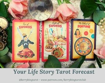 Life Story Tarot Reading, written forecast with Metro's Kerry King, via pdf/email