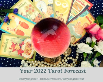 2022 Personal Tarot Predictions, written forecast with Metro's Kerry King, via pdf/email