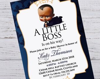 Boss Baby Baby Shower Etsy