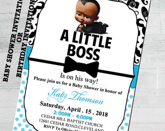Boss baby invitation etsy african boss baby baby shower invite boss baby baby shower invitation baby shower invitations for boys african american boss baby filmwisefo